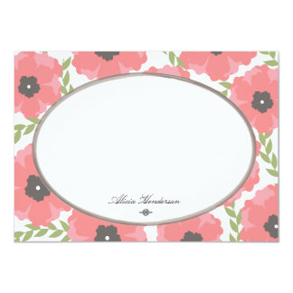 Pretty in Poppies Flat Note Cards
