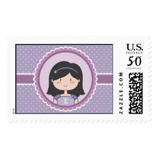 Pretty in Purple, black hair edition Postage
