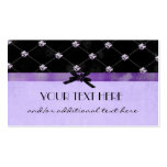 Pretty in Purple Double-Sided Standard Business Cards (Pack Of 100)