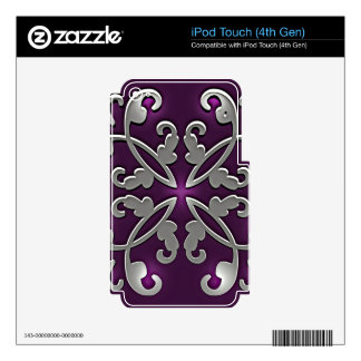 Pretty in Purple iPod Touch 4G Decal
