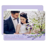 Pretty in Purple | Thank You Wedding Card