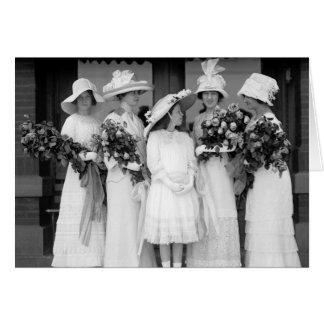 Pretty in White 1912 Card