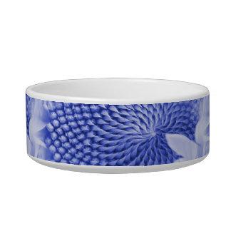 Pretty Indigo Flower Texture Collage Bowl