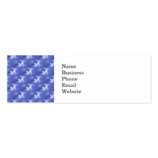 Pretty Indigo Flower Texture Collage Mini Business Card