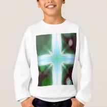Pretty Inspirational Cross Shaped Pattern Sweatshirt