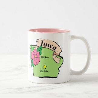 Pretty Iowa Map Mugs