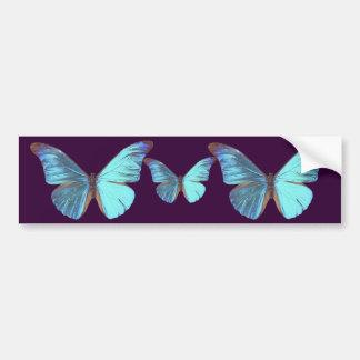 Pretty Iridescent Blue Butterfly Bumper Sticker