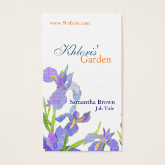 Pretty Iris Professional Florist Business Cards
