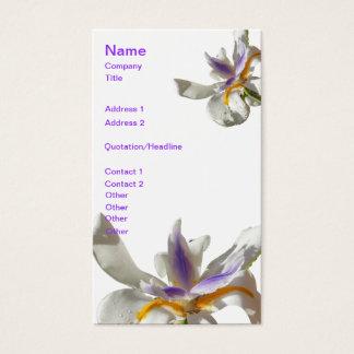 Pretty Iris Purple and White Business Card