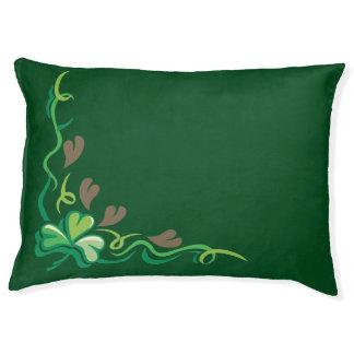 Pretty Irish Clover Pattern Dog Bed