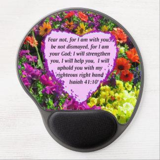 PRETTY ISAIAH 41:10 FLORAL DESIGN GEL MOUSE PAD