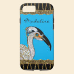 Pretty Island Bird Monogram iPhone 7 Case