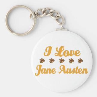 Pretty Jane Austen Lover Basic Round Button Keychain