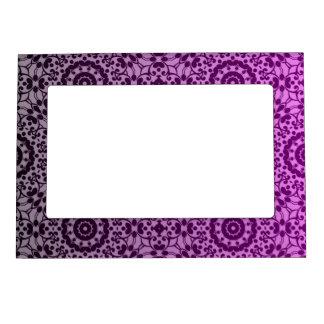 Pretty kaleidoscope gradient pink, purple, gray magnetic frame