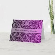 Pretty kaleidoscope gradient wedding congrats card