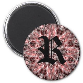 Pretty kaleidoscope magnet for your monogram fridge magnet