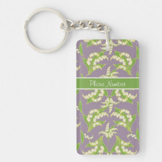 Pretty Keychain: Lilies of the Valley, Mauve Keychain