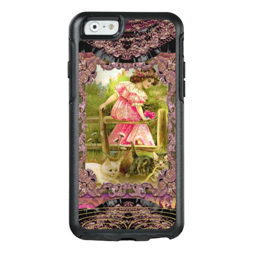 Pretty Kittens and Ribbons Girly Victorian OtterBox iPhone 6/6s Case