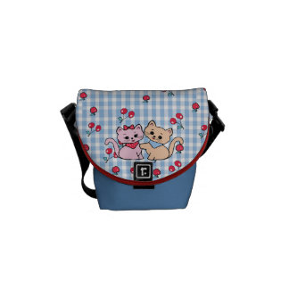 pretty kittens courier bag