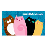 Pretty Kitties on Blue Business Card Templates