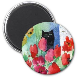 Pretty Kitties Refrigerator Magnet