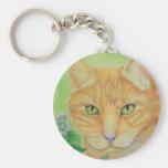 Pretty Kitty Basic Round Button Keychain