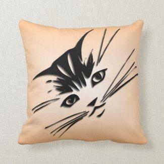 Pretty Kitty Cat Face Pillow