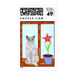 Pretty Kitty Cat Postage Stamps