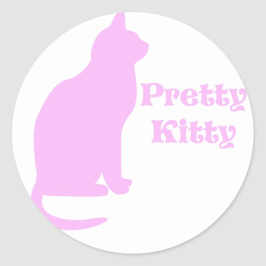 Pretty Kitty Classic Round Sticker