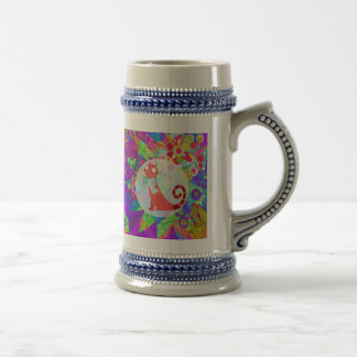 Pretty Kitty Crazy Cat Lady Gifts Vibrant Colorful Beer Stein