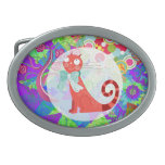 Pretty Kitty Crazy Cat Lady Gifts Vibrant Colorful Belt Buckle
