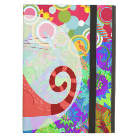 Pretty Kitty Crazy Cat Lady Gifts Vibrant Colorful iPad Covers