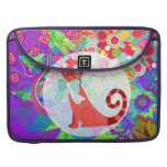 Pretty Kitty Crazy Cat Lady Gifts Vibrant Colorful Sleeves For MacBook Pro