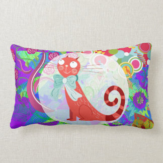 Pretty Kitty Crazy Cat Lady Gifts Vibrant Colorful Throw Pillows