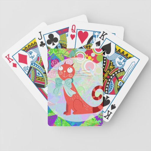 Pretty Kitty Crazy Cat Lady Gifts Vibrant Colorful Card Deck