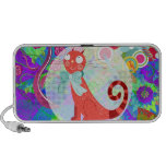 Pretty Kitty Crazy Cat Lady Gifts Vibrant Colorful Travel Speaker