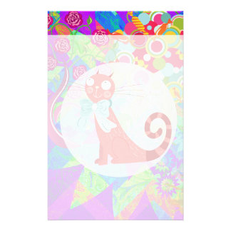 Pretty Kitty Crazy Cat Lady Gifts Vibrant Colorful Personalized Stationery