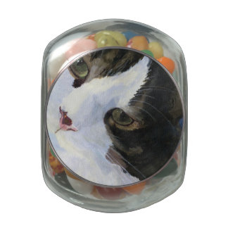 Pretty Kitty Glass Jar
