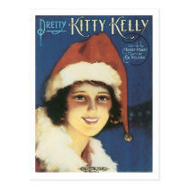 Pretty Kitty Kelly Vintage Songbook Cover Postcard