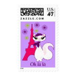 Pretty Kitty Paris Personalized Postage Stamps