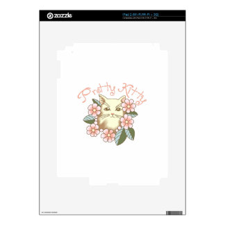 PRETTY KITTY DECAL FOR iPad 2