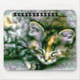 Pretty Kitty Sleeping Mouse Pad