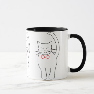 Pretty Kitty With Red Bow Mug