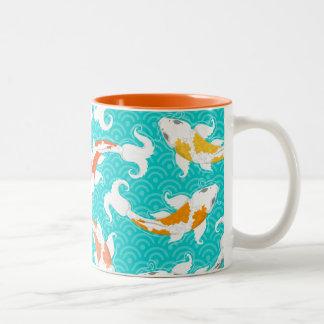 Pretty Koi Two-Tone Coffee Mug