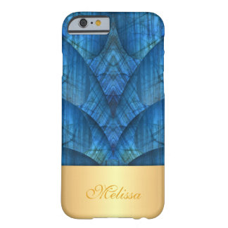 Pretty Labradorite Gems Gold Monogram Barely There iPhone 6 Case