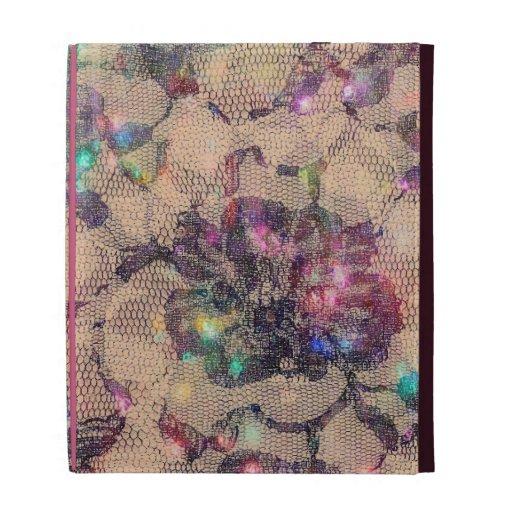 Pretty Lace Roses iPad Folio Case