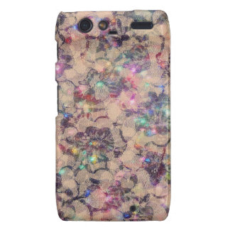 Pretty Lace Roses Motorola Droid RAZR Case