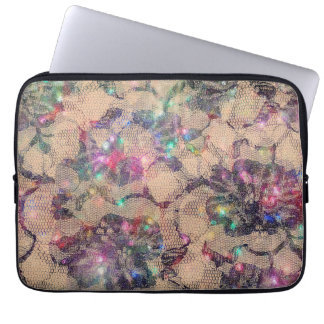 Pretty Lace Roses Laptop Computer Sleeve