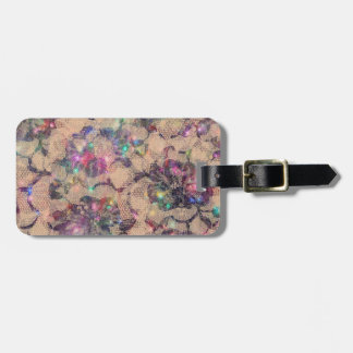 Pretty Lace Roses Luggage Tag