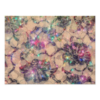 Pretty Lace Roses Photographic Print